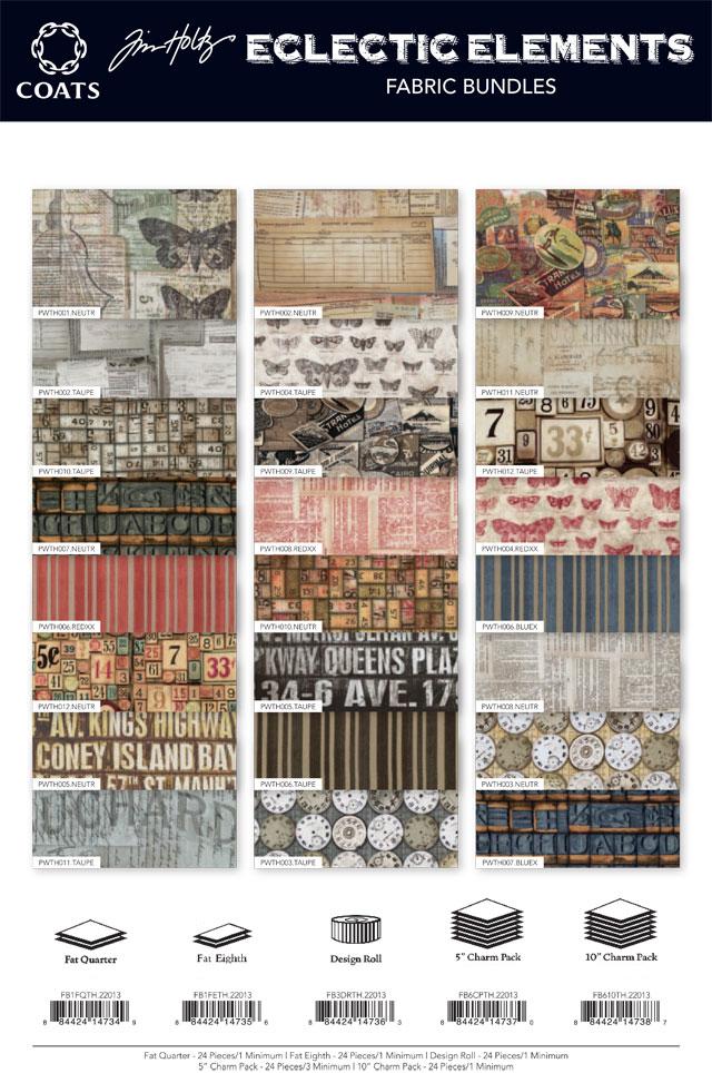 Eclectic Elements Fabric Tim Holtz