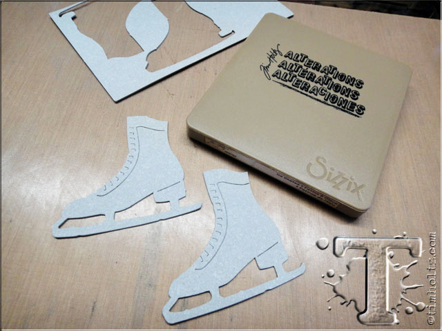"Tim Holtz Alterations /""ICE SKATES/"" Sizzix Bigz Die"