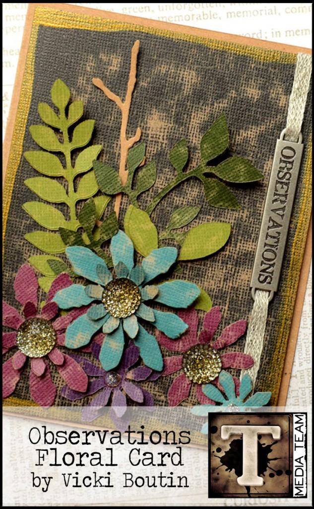 Observations Floral Card Tim Holtz