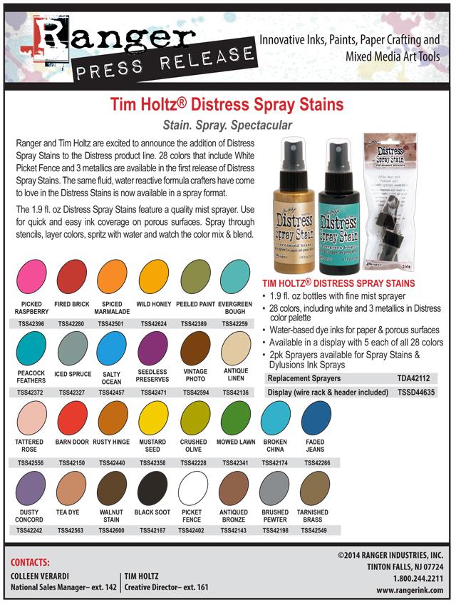 Distress Spray Stain