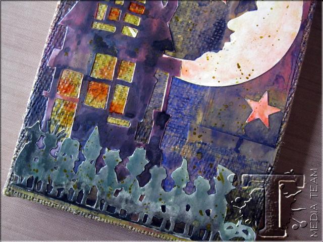 Trick or Treat Burlap Panel by Mou Saha | www.timholtz.com