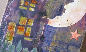 Trick or Treat Burlap Panel by Mou Saha   www.timholtz.com