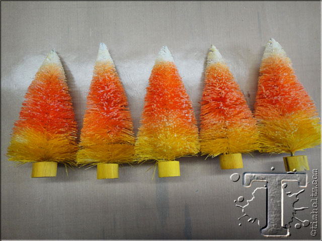 Candy Corn Trees by Tim Holtz | www.timholtz.com