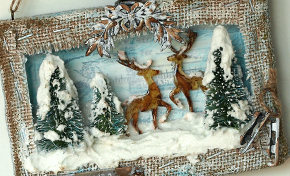 Winter Scene Shadowbox by Anna-Karin Edvaldsson | www.timholtz.com