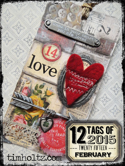 Tim Holtz 12 Tags of 2015 - February | www.timholtz.com