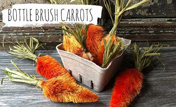 bottle brush carrots?