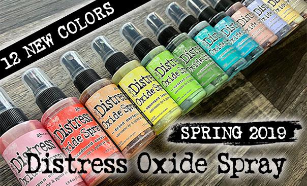 12 new distress oxide sprays: